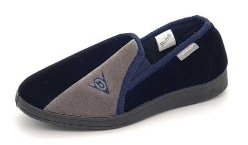 Dunlop - Winston Navy Blue / Grey Slippers